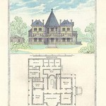 A French Suburban Chateau by Richard Brown - Art Print
