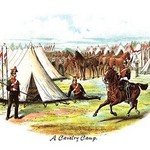 A Cavalry Camp by Richard Simkin - Art Print