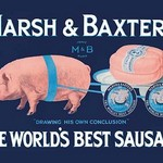 Marsh and Baxter's World's Best Sausage by Simon - Art Print