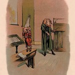 Pig in Dunce Cap and School Master by A. Gual - Art Print