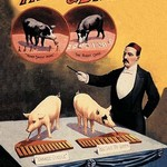 Tatum and Bristol's Troupe of Trained Pigs - Art Print