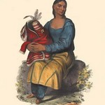 A Chippewah Widow by Mckenney & Hall - Art Print