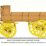 Heary Two-Horse Grain Delivery Wagon - Art Print