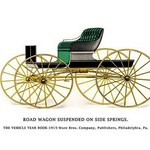 Road Wagon Suspended on Side Springs - Art Print