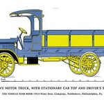 The Heavy Motor Truck - Stationary Cab, Driver's Seat - Art Print