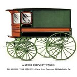 Store Delivery Wagon - Art Print