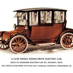 A Late Model Inside-Drive Electric Car - Art Print