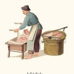 A Pork Butcher by George Henry Malon - Art Print
