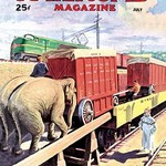 Railroad Magazine: The Circus on the Tracks, 1946 - Art Print