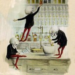 Death in the Lab by F. Frusius M.D. - Art Print