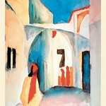 A Glance Down an Alley by August Macke - Art Print