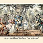 Henry VIII and His Queen 'Out a'Maying' by John Leech - Art Print