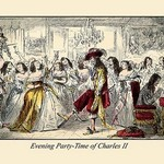 Evening Party - Time of Charles II by John Leech - Art Print