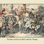 Pyrrhus Arrives in Italy With His Troupe by John Leech - Art Print