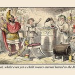 A Child Swears Eternal Hatred by John Leech - Art Print
