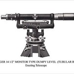 Berger 14 1/2' Monitor Type Dumpy Level (Tubular Bar) - Art Print