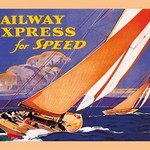 Railway Express for Speed by Carl Burcer - Art Print