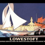 Lowestoft: Through Express Services from the North and Midlands by LMS During the Season by Hap Hadley - Art Print