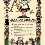 A for Alice in Wonderland by Tony Sarge - Art Print