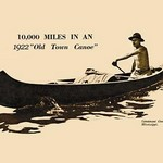 10,000 Miles In An 'Old Town Canoe' 1922 - Art Print