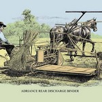 Adriance Rear Discharge Binder - Art Print