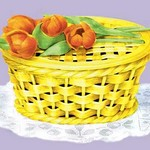 Sugar Basket with Tulips - Art Print