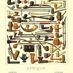 Afrique: Various Pipes - Art Print