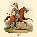 A Mounted British Warrior - Art Print
