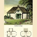 A Gardener's Cottage by J. B. Papworth - Art Print