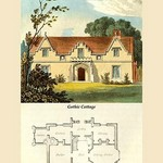 A Gothic Cottage by J. B. Papworth - Art Print