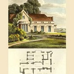 A Vicarage House by J. B. Papworth - Art Print