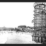 Amusement Park, Long Beach, California by William Henry Jackson - Art Print