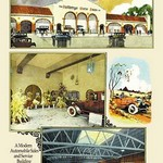 Automobile Sales and Service Building by Geo E. Miller - Art Print