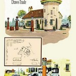 A Filling Station by Geo E. Miller - Art Print