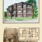 A Four-Apartment Two-Story Building by Geo E. Miller - Art Print