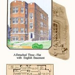 A Detached Three-Flat with English Basement by Geo E. Miller - Art Print