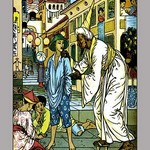 Aladdin Accosted By Magician by Walter Crane - Art Print