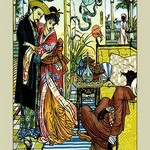 Aladdin Watches as Magician Dies by Walter Crane - Art Print