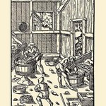 De Re Metallica Plate 24: Fine Sieves - Art Print
