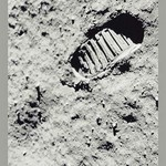 The First Step on the Moon by NASA - Art Print