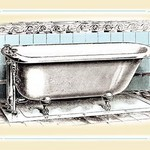 A Bathtub - Art Print