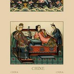 A Chinese Empress, Imperial Wife, and Servant by Auguste Racinet - Art Print