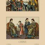 A Chinese Imperial Family by Auguste Racinet - Art Print