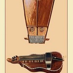 Bell-Harp and Hurdy Gurdy by Theodore Thomas - Art Print