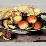 A Bowl with Peaches and Plums by Giovanna Garzoni - Art Print