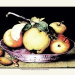 A Dish with Apples and Almonds by Giovanna Garzoni - Art Print