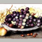 A Dish of Grapes and Peaches by Giovanna Garzoni - Art Print