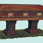 Casket with Golden Rails - Art Print