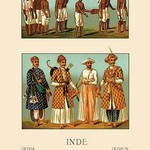 A Variety of Indian Ceremonial Garb by Auguste Racinet - Art Print
