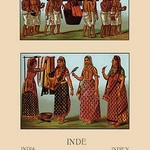 A Variety of Indian Ceremonial Garb #2 by Auguste Racinet - Art Print
